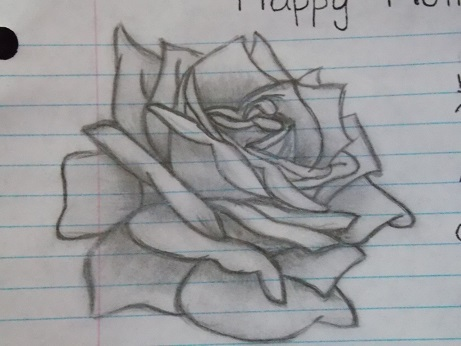 Simple drawn Rose by PictureButNotPerfect on DeviantArt