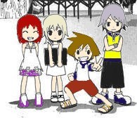 Kingdom Hearts Kids by ellaxe