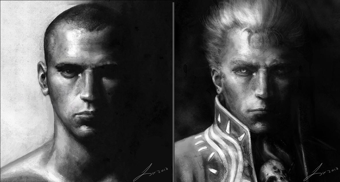 Vergil and Portrait by LindseyWArt