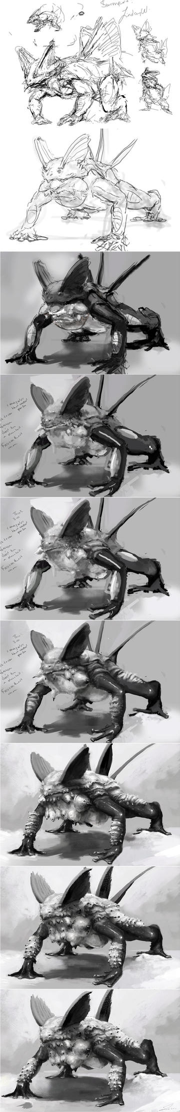 Swampert Step-by-Step by LindseyWArt