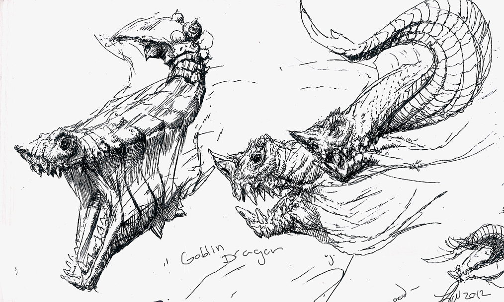 Bull Dragon Sculpt Sketches by LindseyWArt