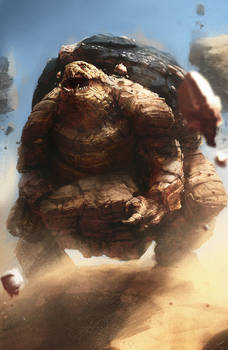 Golem used Rock Slide!