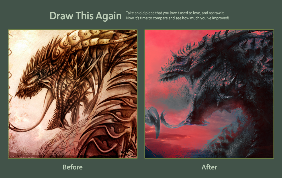 Draw This Again: Red Dragon by LindseyWArt