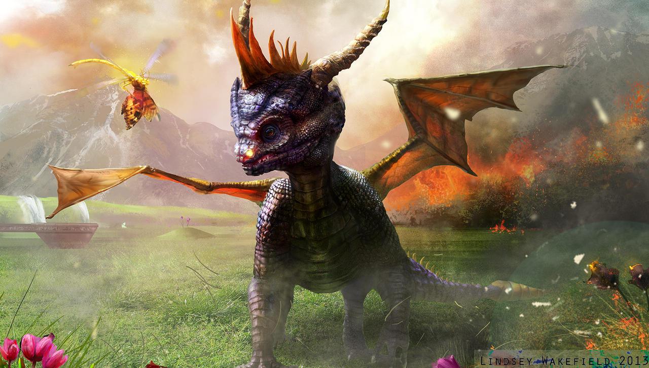 Spyro the Dragon by LindseyWArt