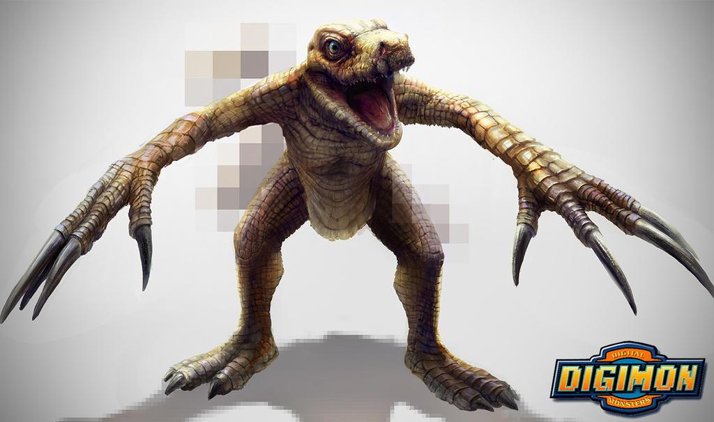 Digimon: Agumon by LindseyWArt