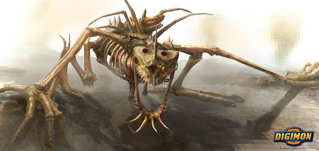 Digimon: Skullgreymon by LindseyWArt