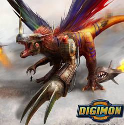 Digimon: MetalGreymon by LindseyWArt