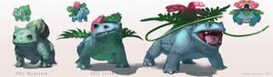 Pokemon: Bulbasaur, Ivysaur, Venusaur