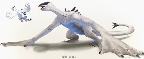 Pokemon: Lugia by LindseyWArt
