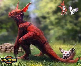 Digimon: Guilmon and Calumon
