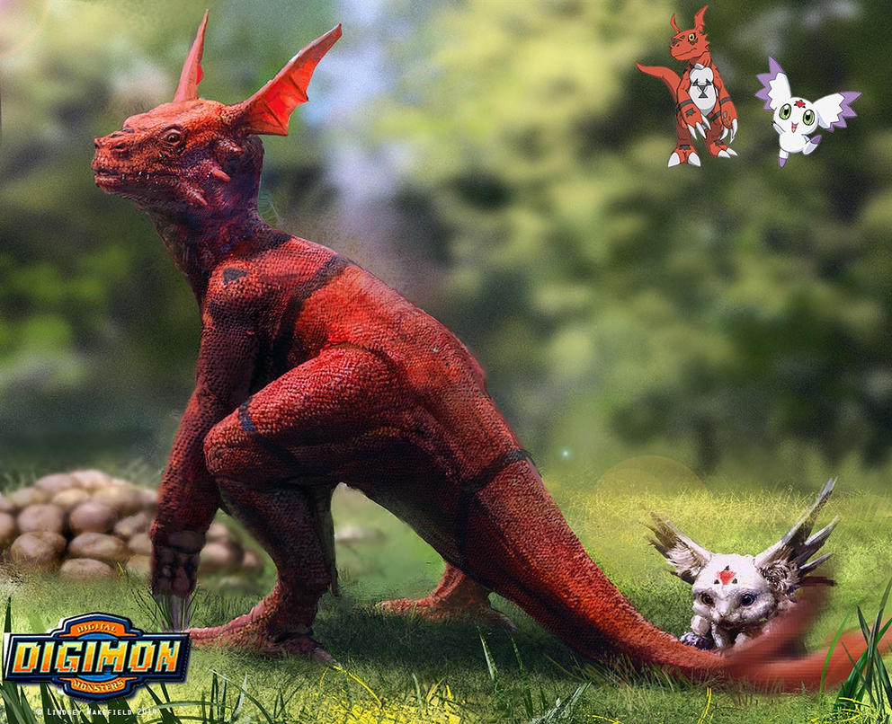 Digimon: Guilmon and Calumon by TwoDD