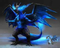 Pokemon: Mega Charizard X by LindseyWArt