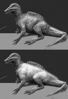 Spino Baby Sketches by LindseyWArt