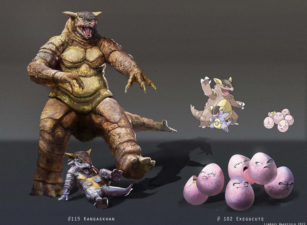 Pokemon Kangaskhan And Exeggcute 510262425