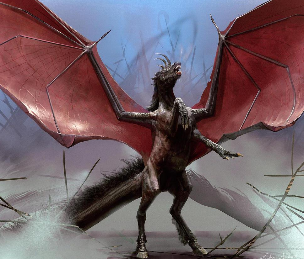 Dragon Horse by LindseyWArt