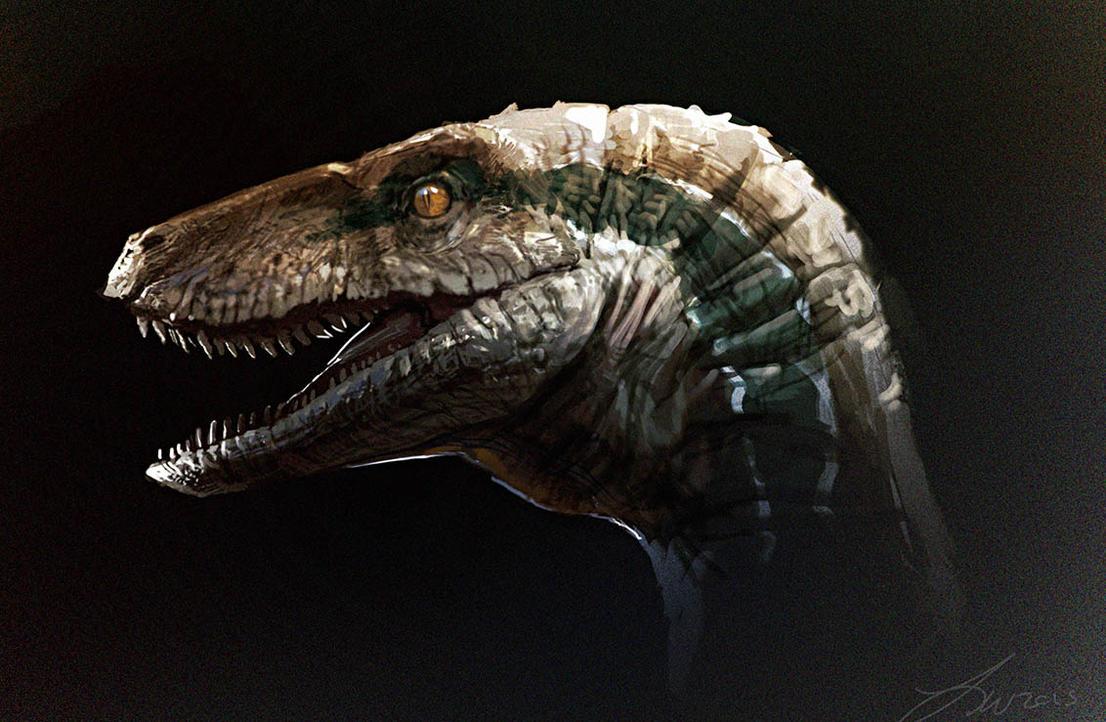 Jurassic World: Blue Sketch by LindseyWArt