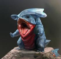 Pokemon: Gible by LindseyWArt