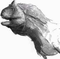 Carnotaurus Doodle by LindseyWArt
