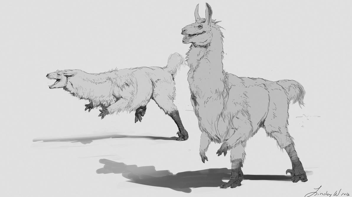 Llama Raptor by LindseyWArt