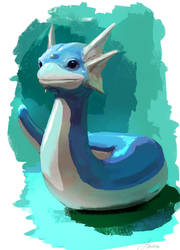 #147 Dratini by LindseyWArt