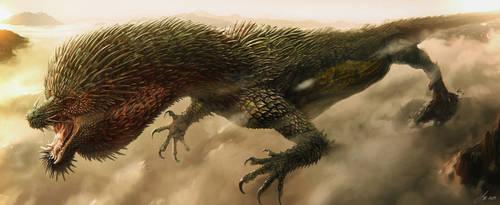 East Asia Dragon - Puffer Boy by LindseyWArt