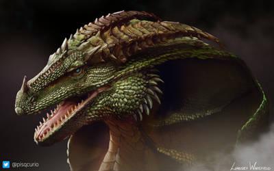 COMMISSION:Hooded Dragon Portrait