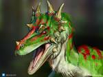 COMMISSION: Velociraptor Spiclypeus Portrait