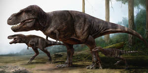 Tyrannosaurus Rex Family Portrait
