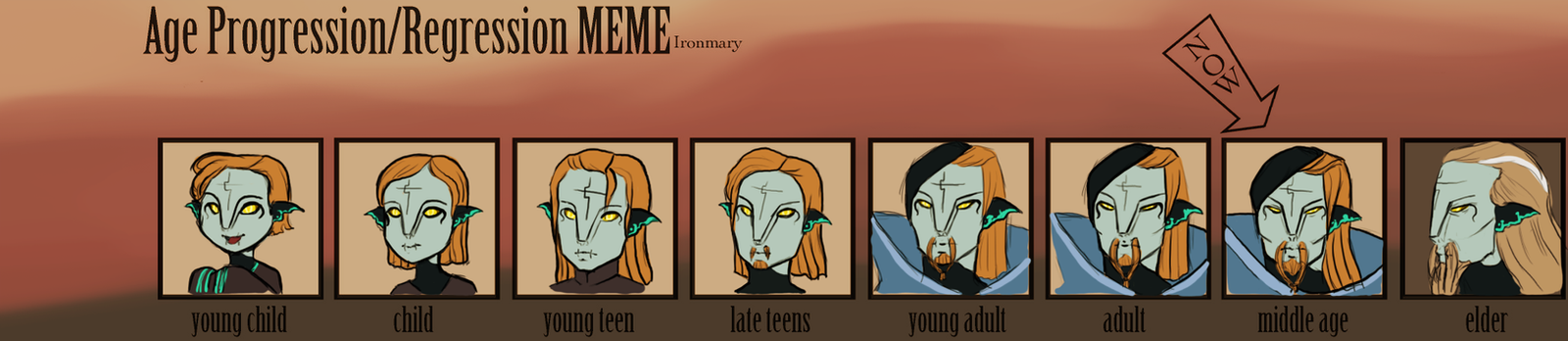 Age Progression Meme - Faheem by Anilede
