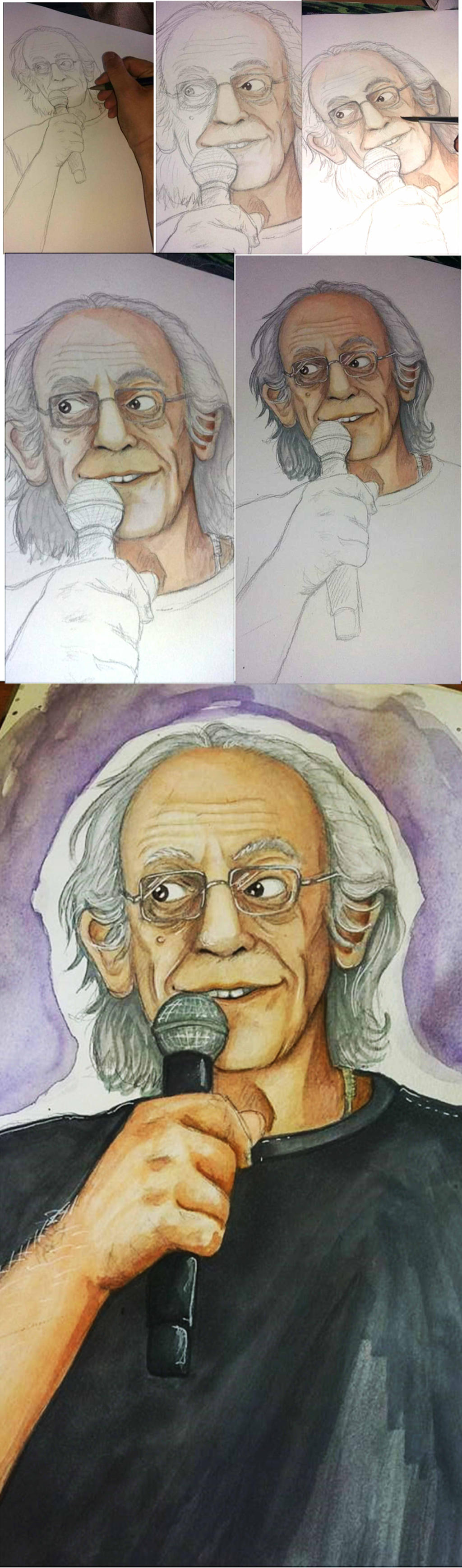 Christopher Lloyd WATERCOLOR by RatTheRipper