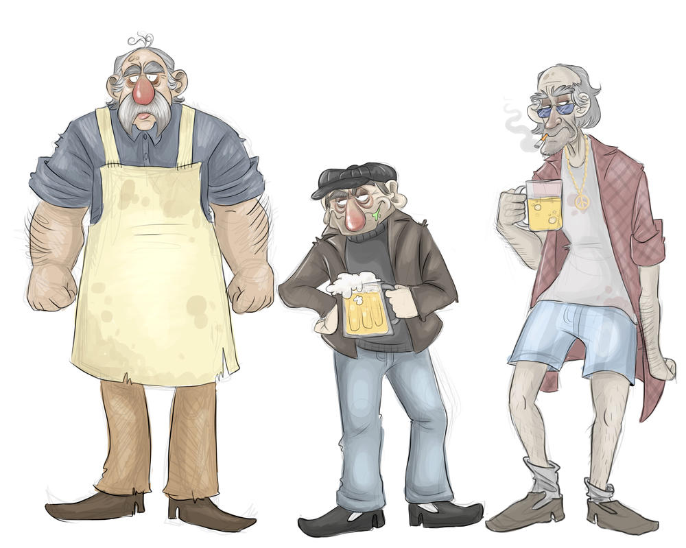 Village Pub Character Design by RatTheRipper