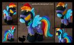 Shadowbolt Rainbow Dash Plushie