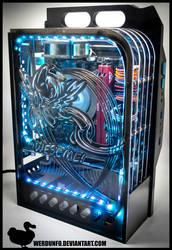 Custom Rainbow Dash SFX Gaming PC (Prototype) by weRDunfo