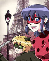 Ladybug and Chat Noir by xxtemtation