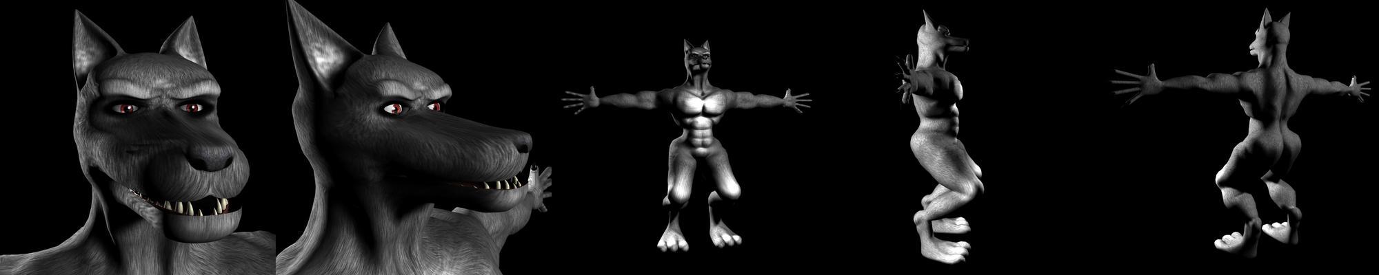 3d werewolf pics naked clip