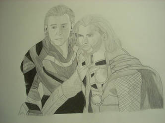 Thor and Loki - Family by ScintillatingWatch