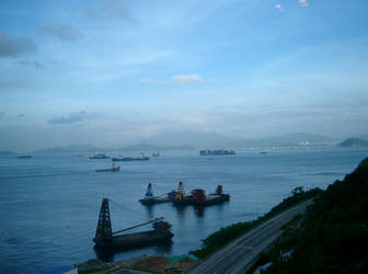 Hong Kong Ocean View by letrainfalldown