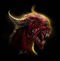 Grim demon by LordHannu