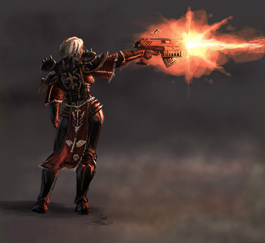 [W40K] Collection d'images : Inquisition/Chevaliers Gris/Sœurs de Bataille - Page 5 Sister_of_battle_by_lordhannu-d3d4qrh