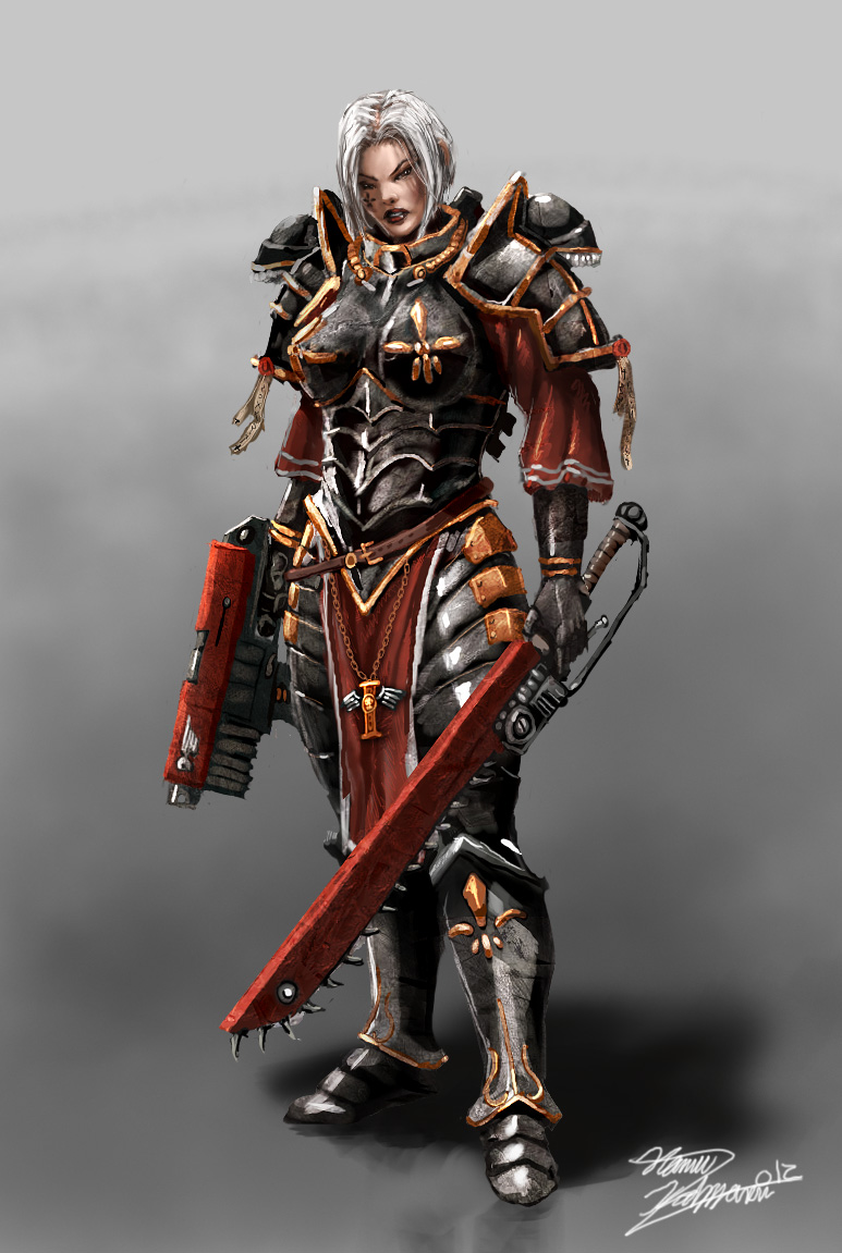 [W40K] Collection d'images : Inquisition/Chevaliers Gris/Sœurs de Bataille - Page 5 The_sister_of_battle_by_lordhannu-d53zevy