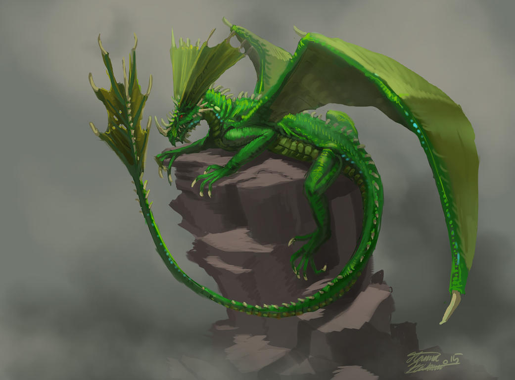 Green dragon by LordHannu on DeviantArt
