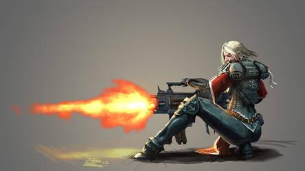Sister of battle heavy bolter