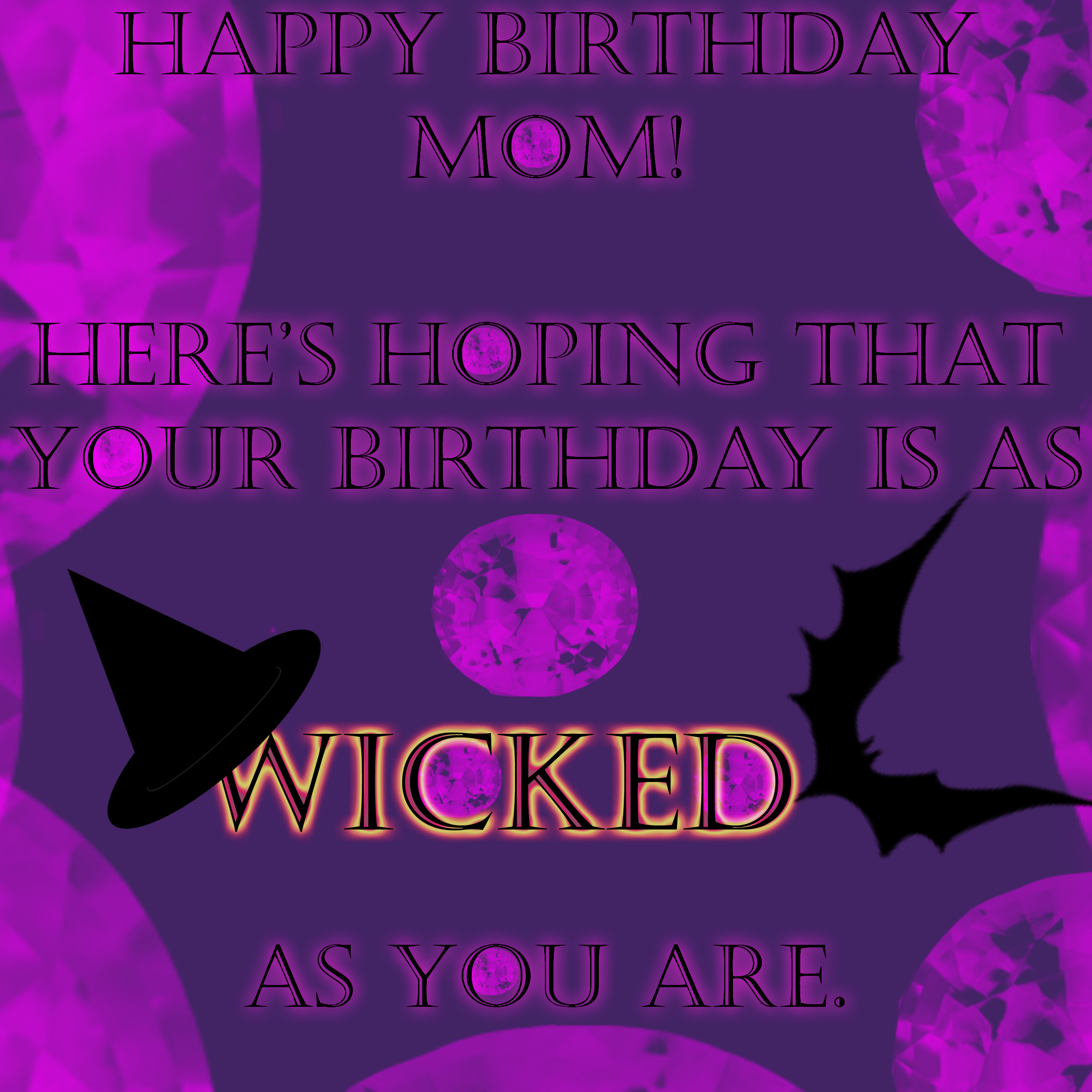 mom's birthday card by kagekaldaka on deviantart, Birthday card