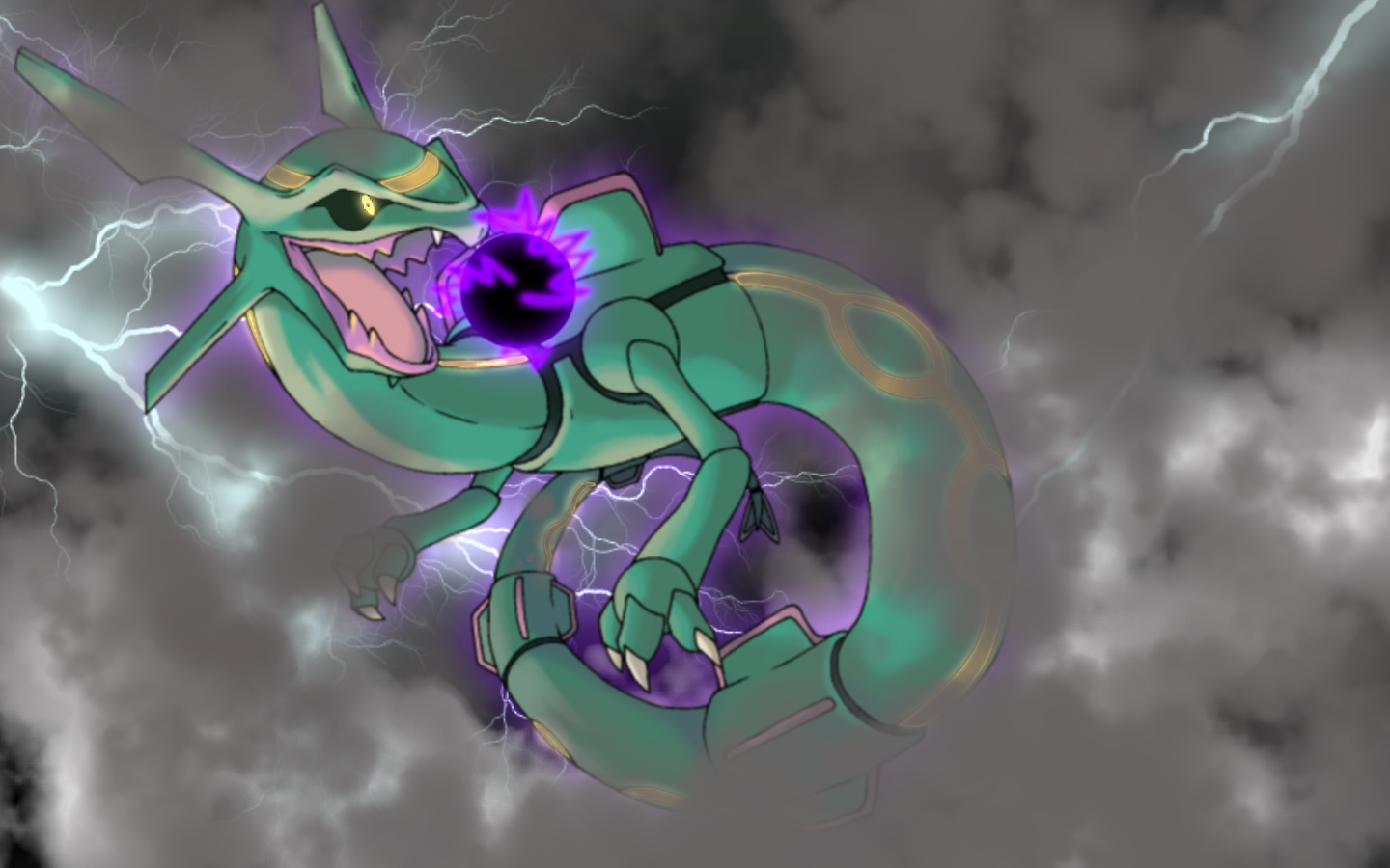 Rayquaza Wallpaper by Kage-Kaldaka