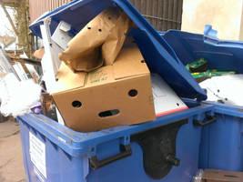 Box in the trash