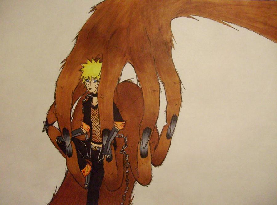 Kyuubi Naruto cage by MrGilbertBeilschmidt