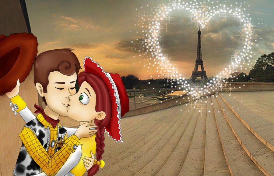Toy Story Woody And Jessie Kissing