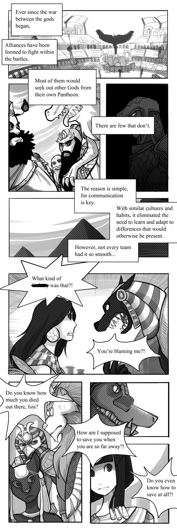 Smite: Gathering, page1 by Zennore