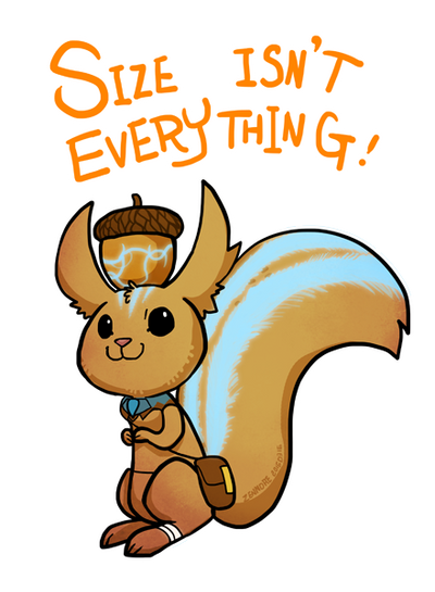 Smite - Size isn't everything (Chibi) by Zennore