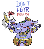 Smite - Don't Fear, Friends! (Chibi) by Zennore